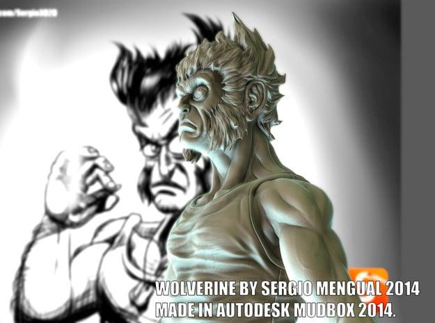 Wolverine Figure 16cm Height in White Processed Versatile Plastic