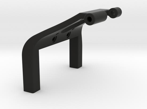 22 Mm Shorty Brace with fan mount in Black Natural Versatile Plastic