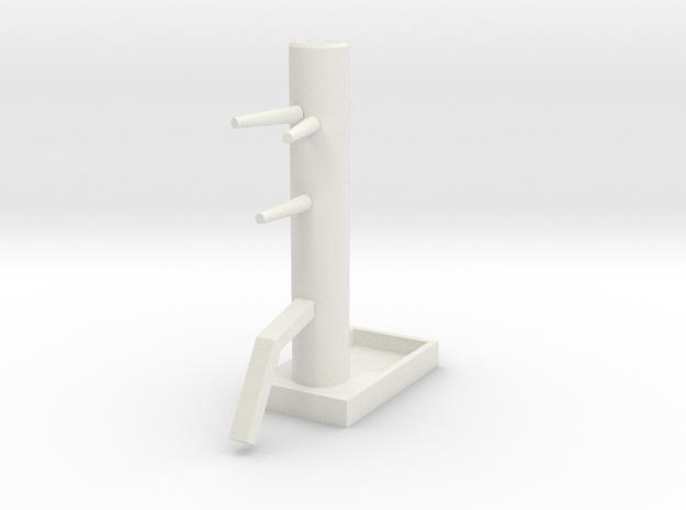 Wooden Dummy04-print in White Natural Versatile Plastic
