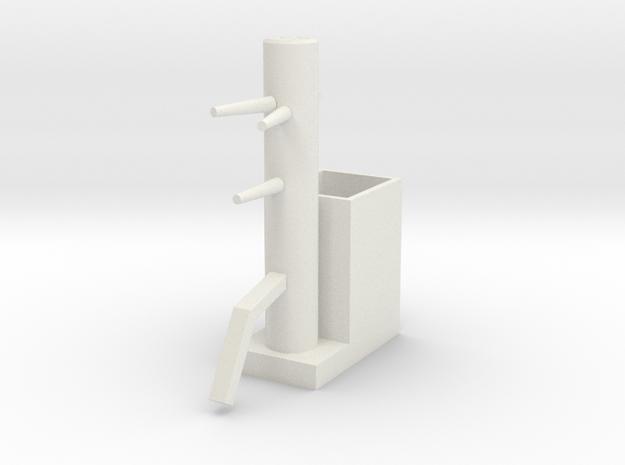 Wooden Dummy05-print in White Natural Versatile Plastic