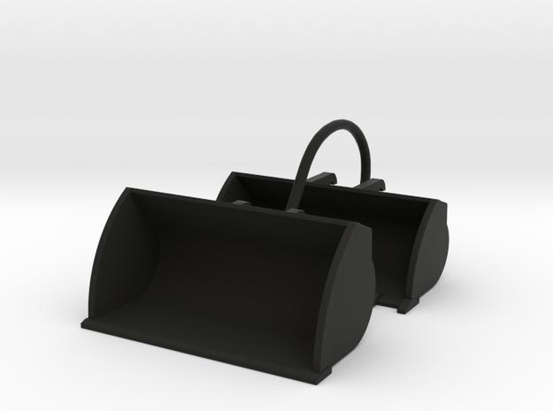 1/64 Wheel loader Bucket Attachments in Black Natural Versatile Plastic