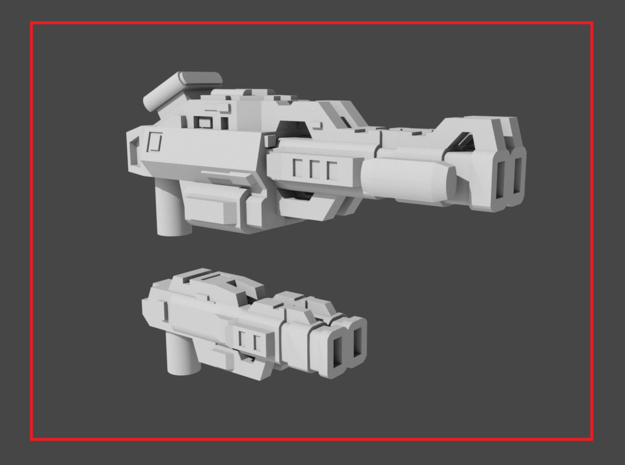 """""""LOCKOUT"""" Transformers Weapons Set (5mm post) in White Natural Versatile Plastic"""