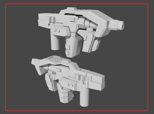 """NOVA"" Transformers Weapons Set (5mm post) in White Natural Versatile Plastic"