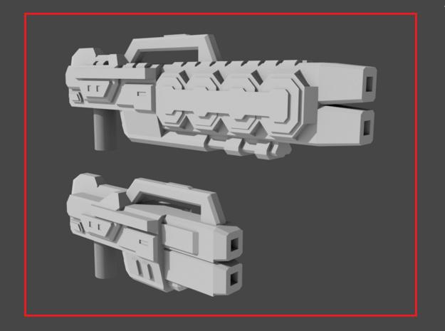"""COREBLOCK"" Transformers Weapons Set (5mm post) in White Natural Versatile Plastic"
