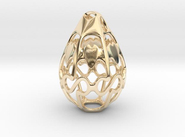 Geo Alpha Dewdrop in 14k Gold Plated Brass