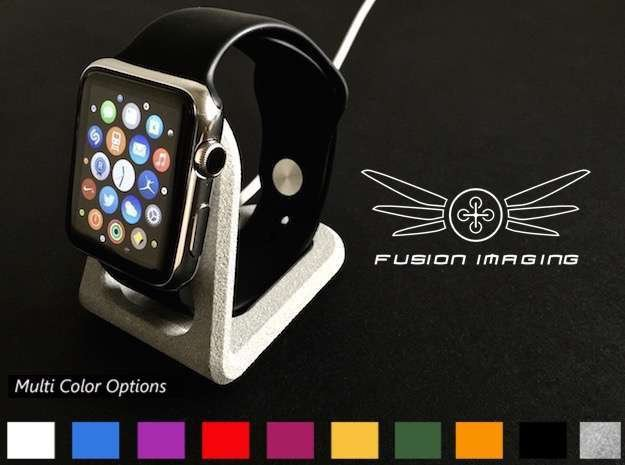 Apple Watch Charging Stand ''Loop' in White Processed Versatile Plastic
