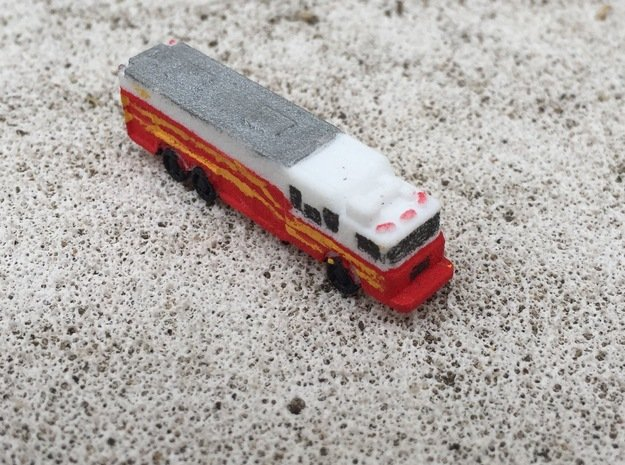 HME Saulsbury Rescue 1:285 scale in White Natural Versatile Plastic: 6mm