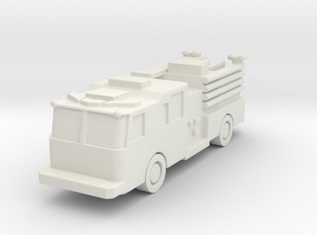 KME Engine FDNY configuration 1:285 scale in White Natural Versatile Plastic: 6mm