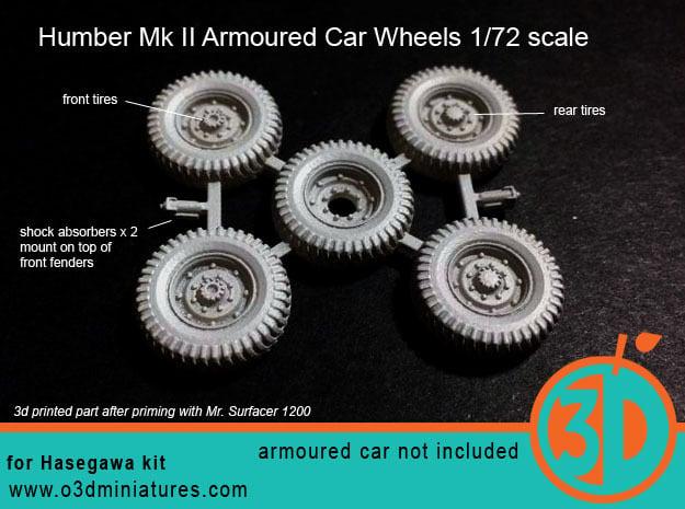 Humber Mk II Tires 1/72 scale SWFUD-72-007 in Smooth Fine Detail Plastic