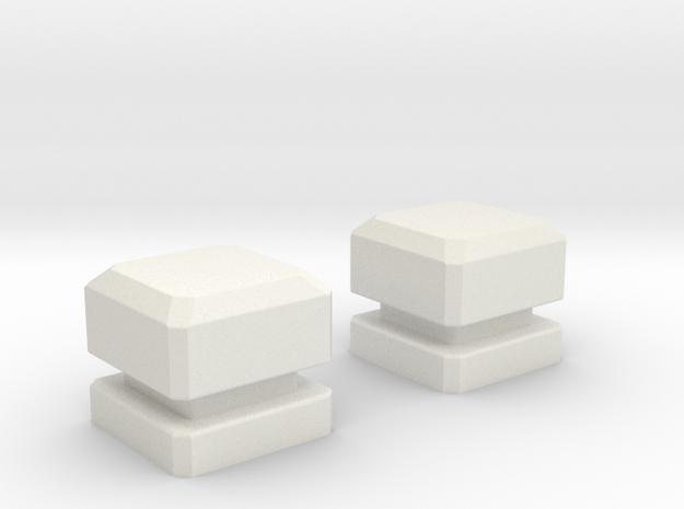 Combiner Wars Voyager Figure Port Fills in White Natural Versatile Plastic