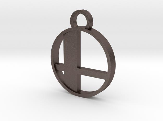 Smash Keychain in Polished Bronzed Silver Steel