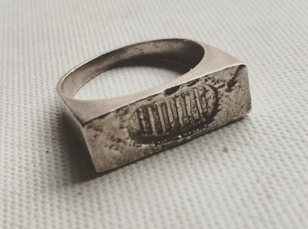 Moonwalk Ring  in Polished Silver: 7 / 54
