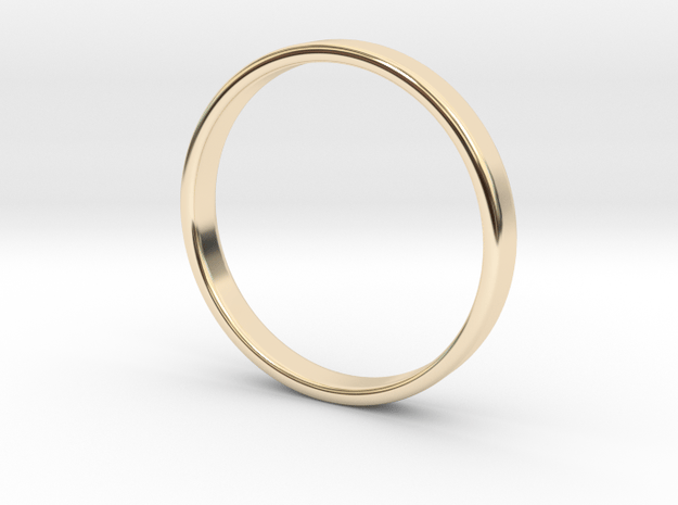 Ring for Ed - Size 12 (3mm wide, 1.2mm thick) in 14K Yellow Gold