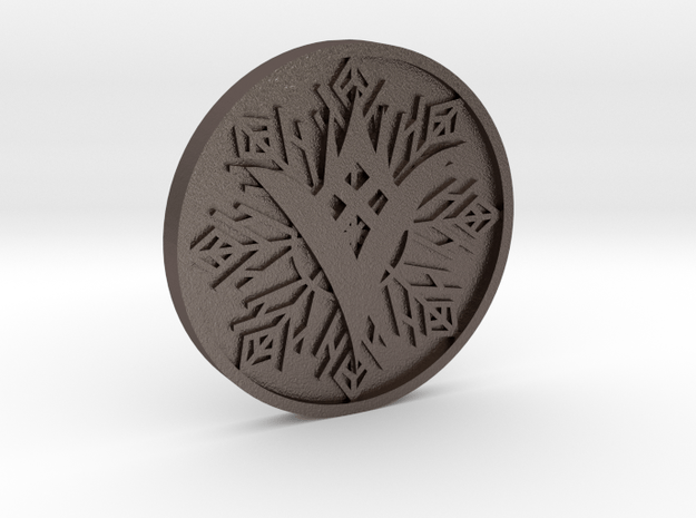 TTK Coin in Polished Bronzed Silver Steel