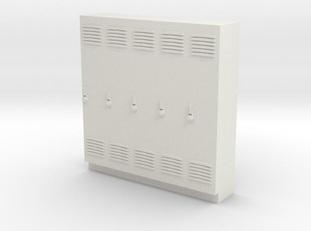 O Scale Lockers in White Natural Versatile Plastic