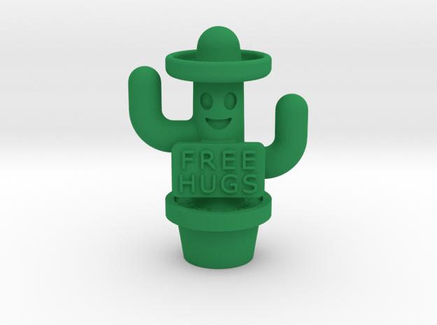Free Hugs Cactus in Green Processed Versatile Plastic