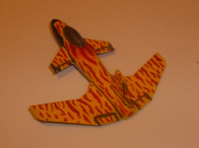 The Stingray Aerospace fighter with a flame paint job.