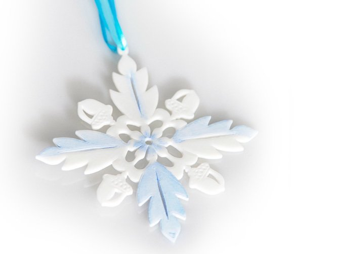 Snowflake in White SF with blue paint added
