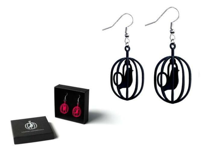 Happy Bird earrings and gift box