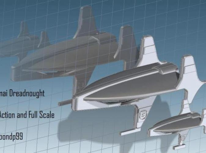 Comparison Fleet Action scale and the normal Full scale