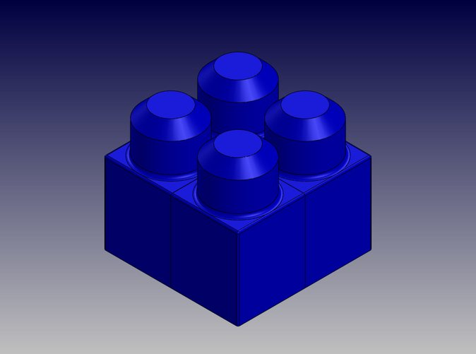 Square Quad Block-Isometric View
