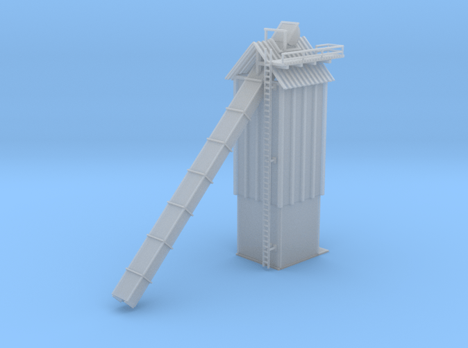 Woodchip Storage Building Z scale