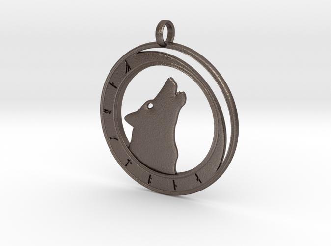 Wolf Moon - Rune Circle in steel