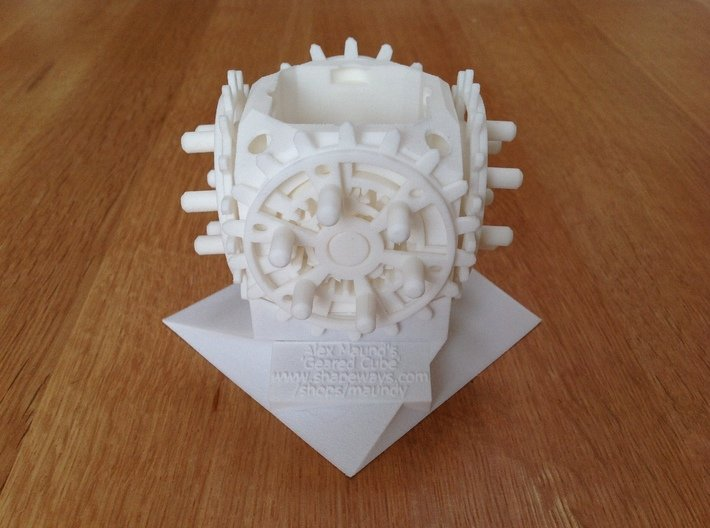 28-Geared Cube - Fully Assembled 3d printed