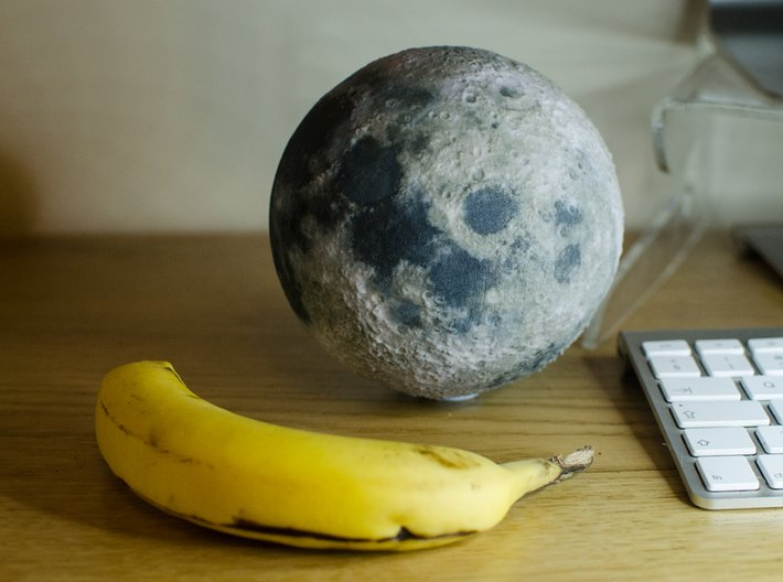 The Moon 3d printed (Picture of the 120mm model)