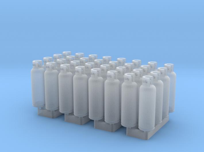 LPG Tanks 20kg, 32pc., N-scale 3d printed