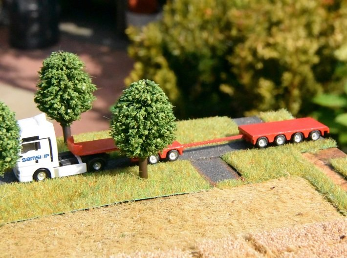 1:160/N-Scale 2+4 Axle Semitrailer 3d printed Add a caption...