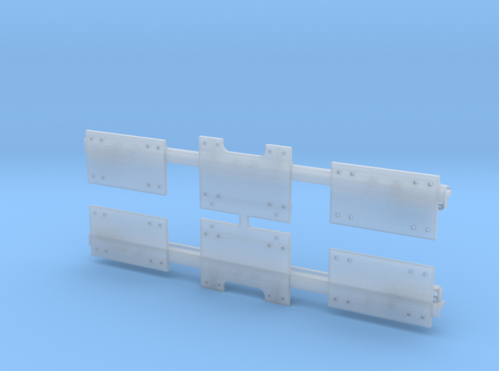 9FTC138HGRO - 9 Ft O Scale Hook Guard Rail 3d printed