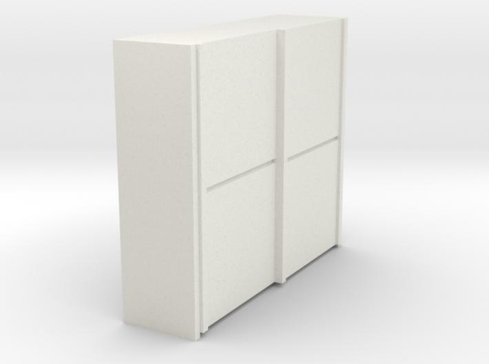 A 017 sliding closet Schiebeschrank 1:87 3d printed