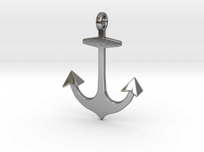 Anchor necklace/pendant...customize it! 3d printed