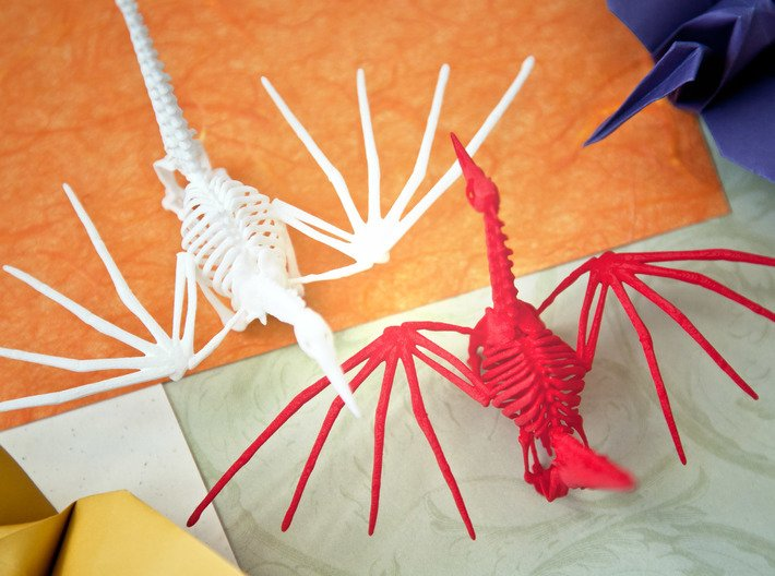 Origami Crane Skeleton 3d printed