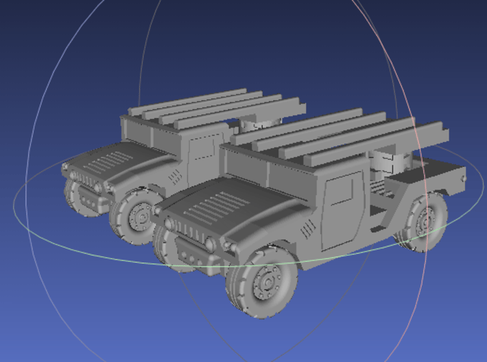 1/144 Humvee SL-AMRAAM moving position (Dual Pack) 3d printed