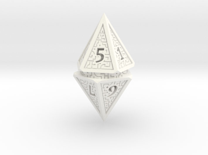 Hedron D10 Spindown Life Counter - SOLID DIE 3d printed