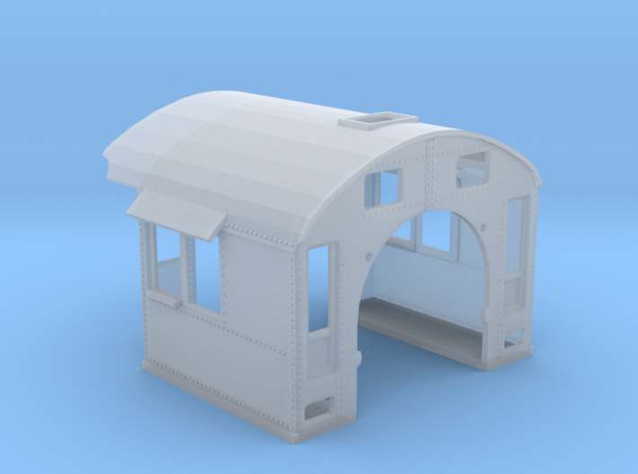 N-scale SP Cab Conv. Bachmann 4-6-0 (low mount) 3d printed