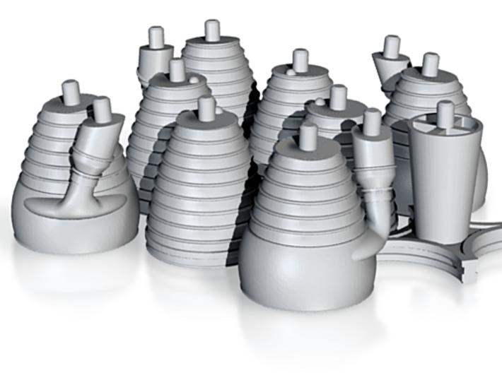 H-1 Engines (1:70 Saturn I & IB) SA-1 thru SA-202 3d printed