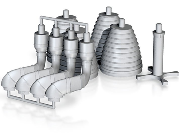 H-1 Engines Later Version (1:72 Inboards ONLY) 3d printed