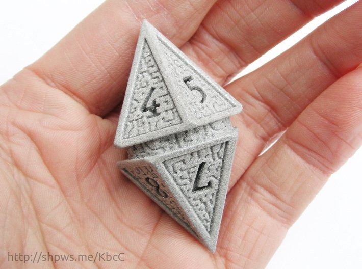 Hedron D10 Spindown Life Counter - SOLID DIE 3d printed The numbers on the hedron form a spindown pattern from 10 (represented by 0) to 1