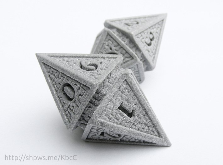 Hedron D10 Spindown Life Counter - SOLID DIE 3d printed Two D10 spindown dice together can be used to track life totals from 100 to 1