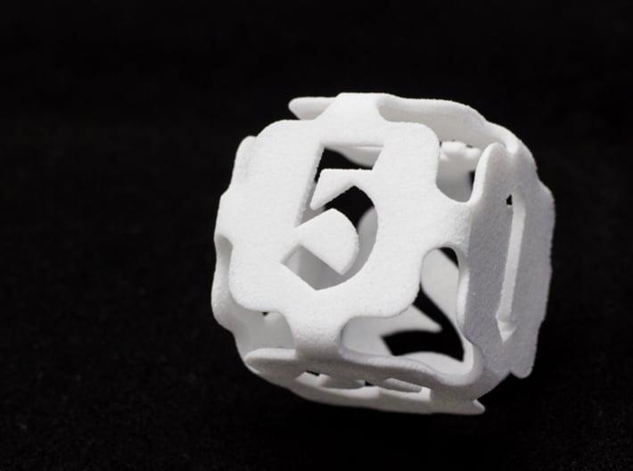Big die 6 / d6 24mm / dice set 3d printed d6 white