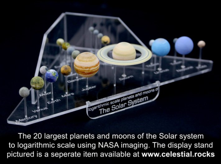 Solar System models - all planets and major moons 3d printed