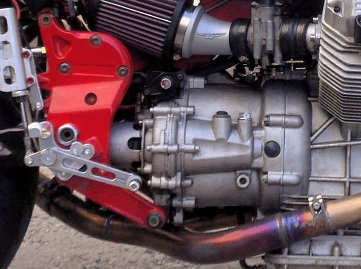 Intake Boots for Moto Guzzi V11 3d printed