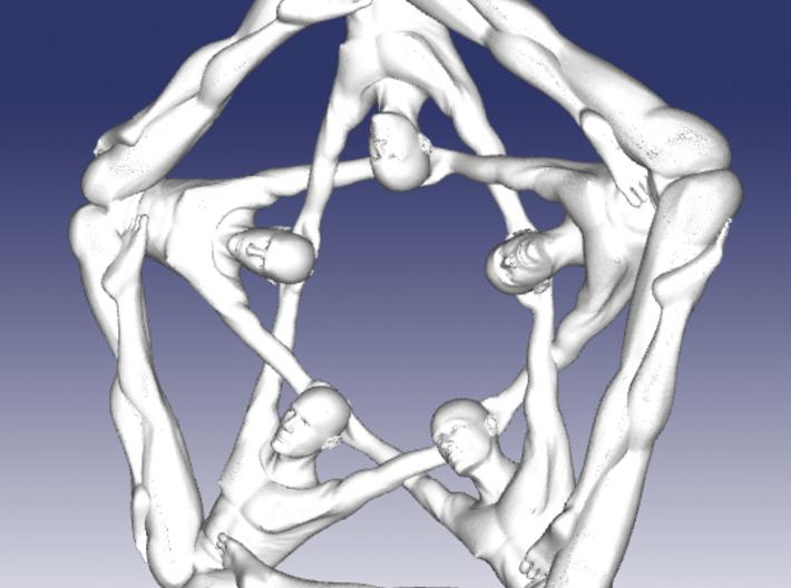 Pentaman ingot - Naked Geometry 3d printed