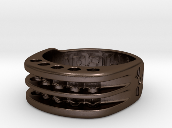 US11 Ring XI: Tritium (Stainless Steel) 3d printed