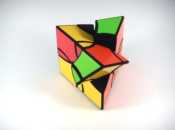 Curvy Shallow Jumble Prism Puzzle 3d printed Alternate Second Turn