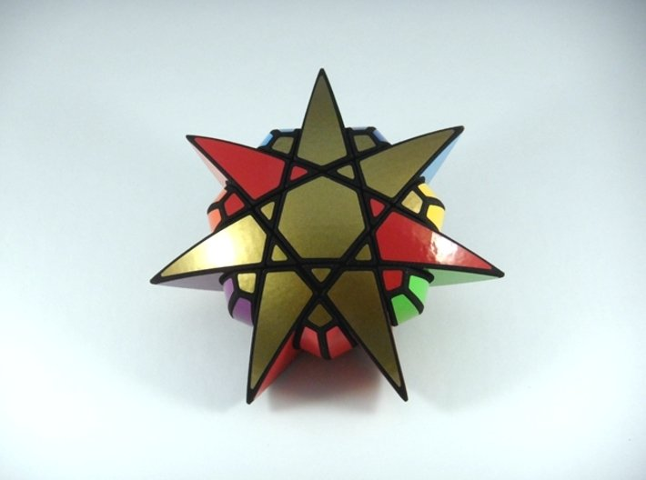 Star of The Seven Puzzle 3d printed Four Turns