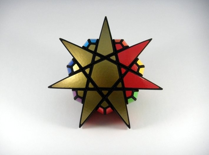 Star of The Seven Puzzle 3d printed One Turn
